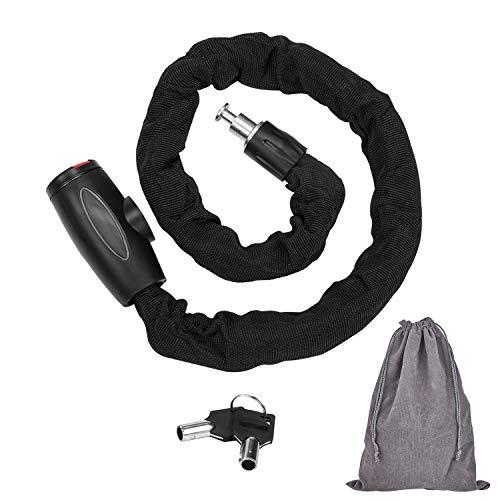 FOBOZONE Candado de cadena, High Quanlity cadena candado Cadena de Seguridad Antirrobo Bloqueo para Bicicletas y Motocicletas al Aire Libre,(9.5mm Dia x 100cm Length/Peso: 1.35 kg)