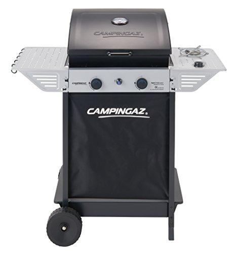 Campingaz BBQ a Roccia Lavica Xpert 100 LS Plus Rocky, Barbecue Grill Compatto a 2 Bruciatori e 1...
