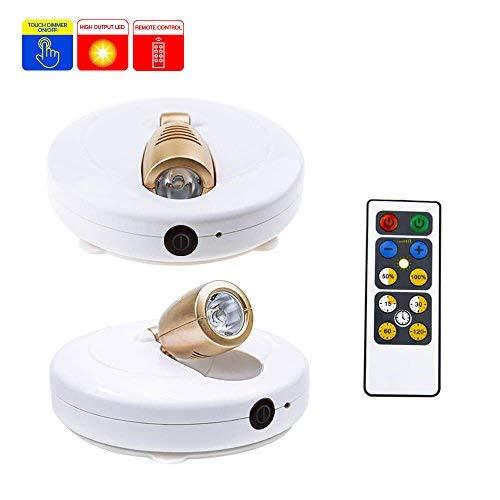 Faretto a LED HONWELL 2pcs Luce a Faretti da soffitto orientabili con telecomando a batteria lampada...