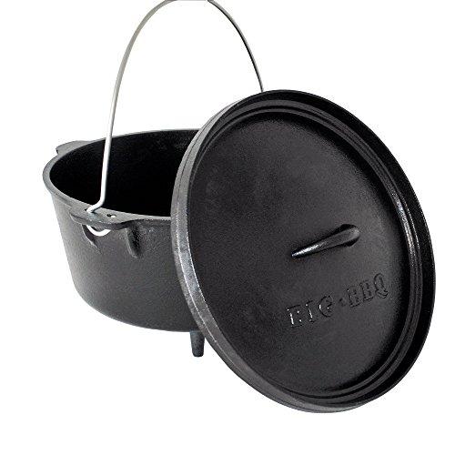 ToCis Big BBQ DO 12 Dutch Oven | 14' Forno olandese in ghisa | pretrattato con olio di soia| con...