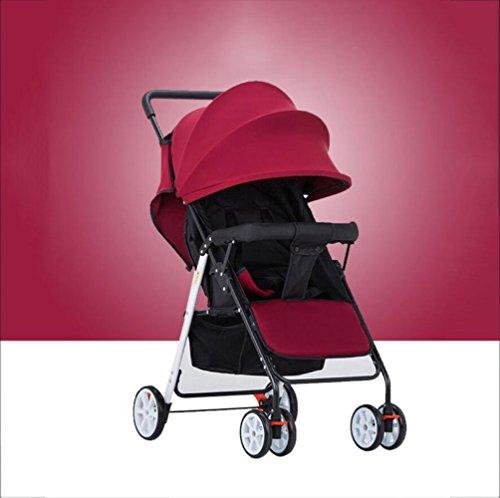 Passeggino Ultra-Leggero Portatile da 3,8 kg può Sedersi Sdraiato Trolley Pieghevole Auto...