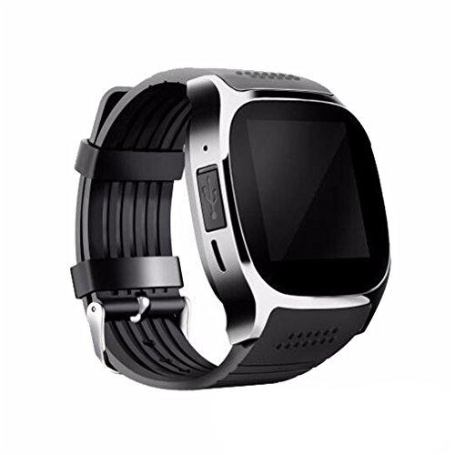 CCYOO Smartwatch T8M Bluetooth Heart Rate Smart Watch Monitoraggio Della Pressione Arteriosa,Black