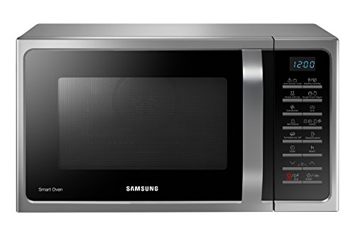 Samsung MC28H5015CS Forno a Microonde Combinato da 900 W con Grill e Piatto Doratore, 28 Litri,...
