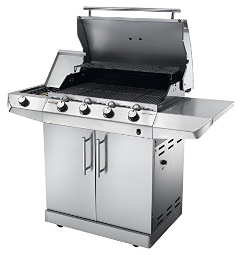 Char-Broil is the real American BBQ since 1948 and the Performance Series T47G model is really big in size, entertainment and taste. This gas BBQ is currently sold in the UK market though at an exorbitant price. The product is still worth considering largely because of its cutting-edge Infrared technology, which is said to cook food more evenly with less flare-ups, resulting up to 50% juicier food. Char-Broil also claims this cooking technique consumes up to 30% less gas compared with many other models so in the long term you should save money on gas compared to similar models.
