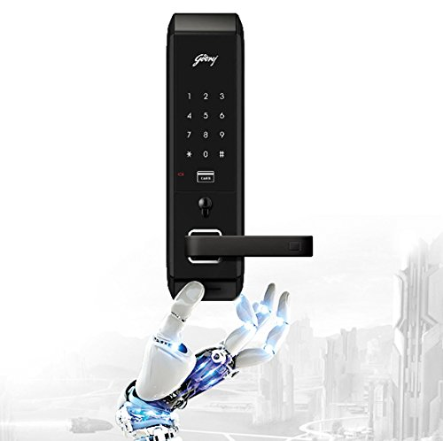 Godrej Locks Advantis 5259 ABS Plastic Digital Door Lock (Black, 15-Pieces)