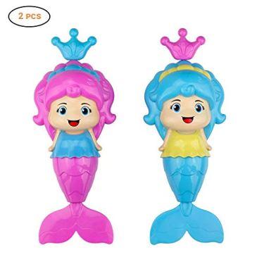 Baby Bath Clockwork Toy, Mermaid Wind Up Floating Water Toys for Kids Toddlers – Swimming Pool Beach Bathing Time Bath Tub Fun