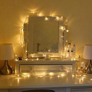Uping Guirlandes Lumineuses Chaîne 12m 100 LEDs avec Prise EU 8 Modes de Fonctionnement Décoration Halloween/Noël/Jardin/ Cérémonie (Blanche chaude)