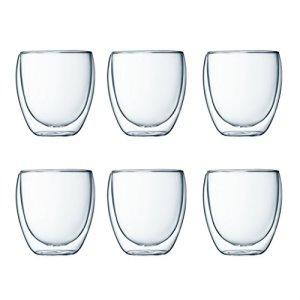 Bodum Pavina - Set de 6 vasos térmicos, 0,08 l, cristal borosilicato, transparentes 7