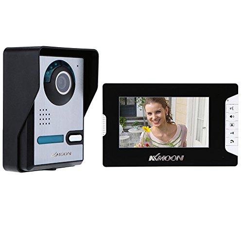 KKmoon, Videocitofono TFT LCD, Campanello Visivo 7 Pollici, Sblocco dello Schermo, Video Campanello,...
