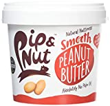 Pip & Nut Smooth Peanut Butter - 1kg, Pack of 2 - Absolutely No Palm Oil - No Added Sugar - Always High-Oleic Peanuts - Natural Source of Protein and Healthy Fats