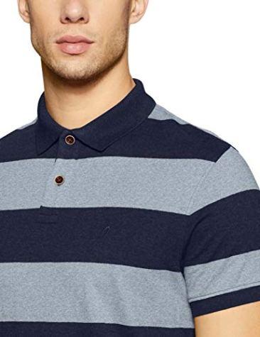 Indian Terrain Men's Striped Regular Fit T-Shirt 4