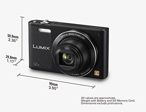 "Panasonic DMC-SZ10EG-K - Cámara compacta de 16 Mp (pantalla de 2.7"", zoom óptico 12x, estabilizador óptico, vídeo HD, WiFi), negro"