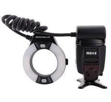 Meike MK-14EXT - Flash Macro para Nikon D90, D800, D7000 y D5200 (i-TTL y 2 LED)