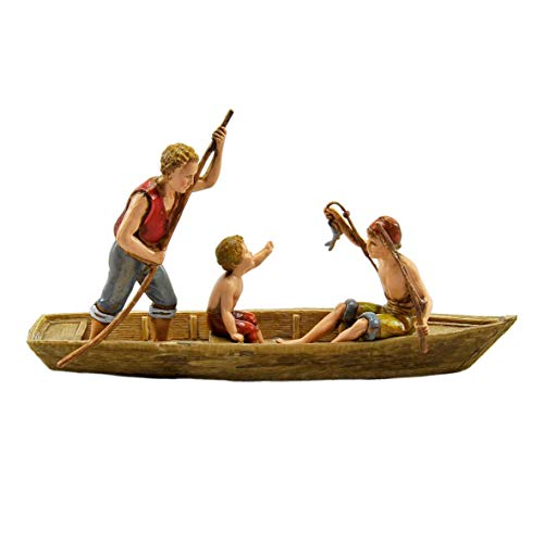 Moranduzzo Landi 700 cm.10 Pescatore in Barca con 2 Bambini