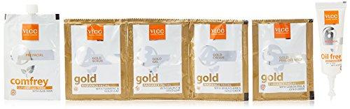VLCC Gold Facial Kit, 60g + Free (white & bright glow gel creme 20g)