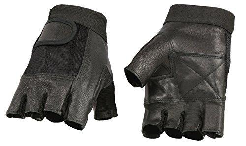 Milwaukee guanti senza dita in pelle da uomo in pelle mesh Combo, nero SH217