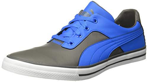 PUMA Men's Slyde Knit MU IDP Dark Shadow-Indigo Bunting White Sneakers-7 UK/India (40.5 EU) (4062449014501)