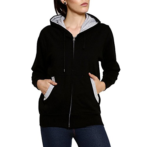 GOODTRY Women's Cotton Hoodies-BlackGTWH-029-BLK-XXL