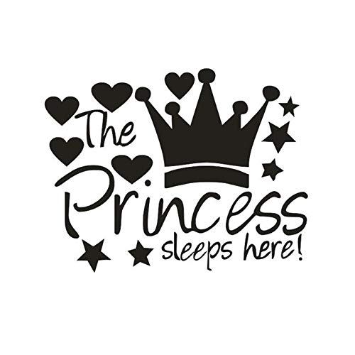 WWYJN Cartoon Crown Stars Hearts Wall Stickers for Kids Rooms Child Gifts Art Mural Home Decor The...