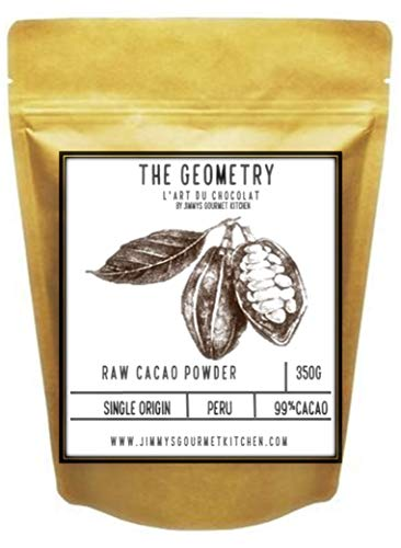 Jimmy's Gourmet Kitchen Cacao Powder 99% 350g Single Origin Peru Raw UnProcessed Non-Alkaline