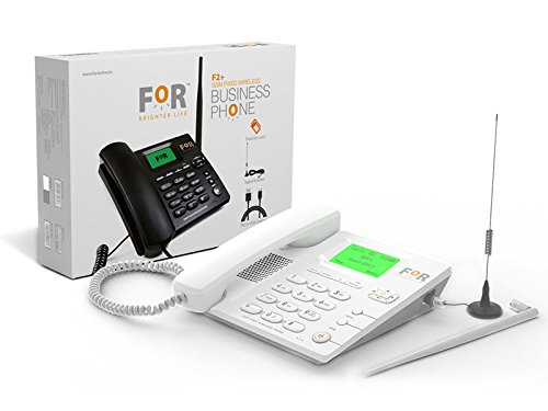 FOR Fixed Dual SIM Auto Answering Wireless Phone F2+ (White)