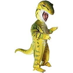 Disfraces de Dinosaurio para Ninos Cosplay Pijama dinosaurio para Fiesta Halloween Amarillo 4-6 anos