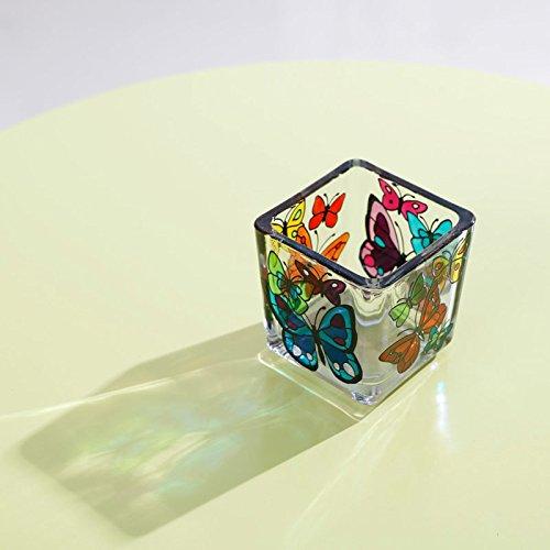 Vela de cristal con pintado a mano ACEVER mariposas de regalo de San Valentín Regalo