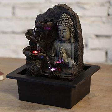 Zen'Light SPIRITUALITE - Fuente de polirresina de Color marrón Oscuro, 21x 21x 26cm. 7