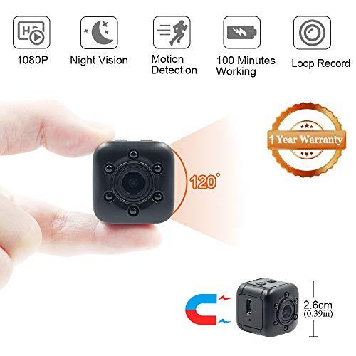 Mini Nascosta Telecamera Spia LXMIMI 1080P HD grandangolare Mini Microcamere Spia Mini Spy Cam...