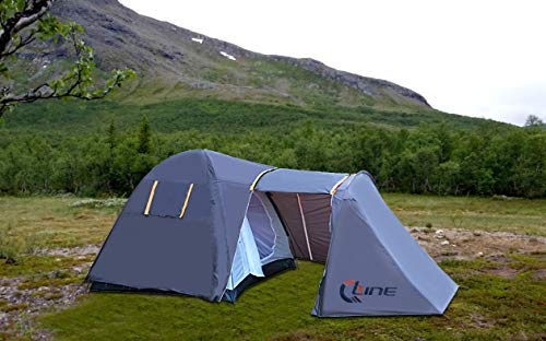 QLine Polyester CMP-09 Four People Waterproof Camping House Tent, (Multi) Quality Assurance