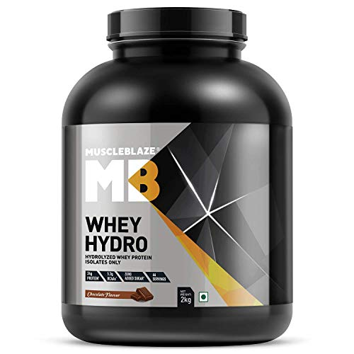 MuscleBlaze Whey Hydro Whey Protein Isolate (Chocolate, 2 Kg)