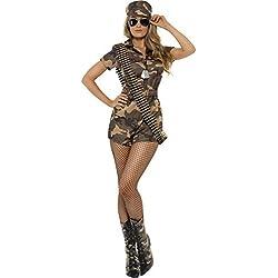 Mujer Chica Militar Disfraz Talla Pequeña Ajusta a 8 a 10