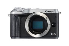 Canon EOS M6 - Cámara EVIL de 24.2 MP (pantalla táctil de 3.0'', DIGIC 7, NFC, Dual Pixel CMOS AF, Bluetooth, 5 - Axis Digital IS, Full HD, WiFi) plata - solo cuerpo