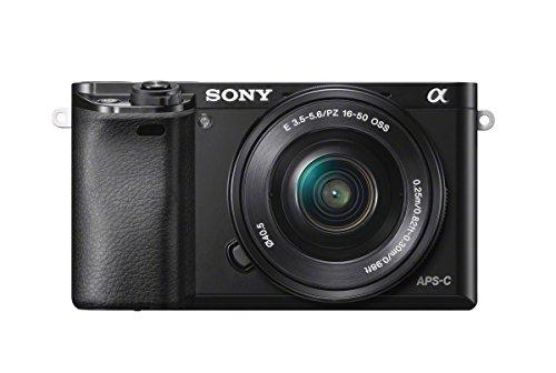 Sony ILCE-6000LB Appareil Photo Numérique Hybride Capteur APS-C 24,3 Mpix Autofocus ultra-rapide + objectif 16-50 mm rétractable noir