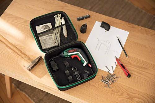 Bosch Visseuse sans Fil IXO Set (Renvoi D'angle Et Mandrin Excentré, 10 Embouts de Vissage, Chargeur USB, boite en mousse, 3,6 V, 1,5 Ah)