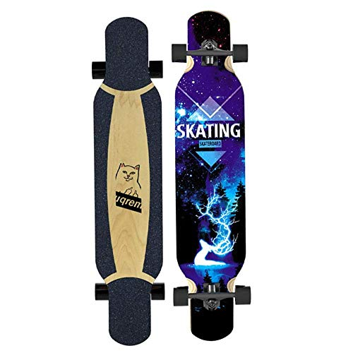SHLYXY Longboard Skateboard 40 pulgadas Arce Camber Baile cóncavo Longboard para adolescentes,...