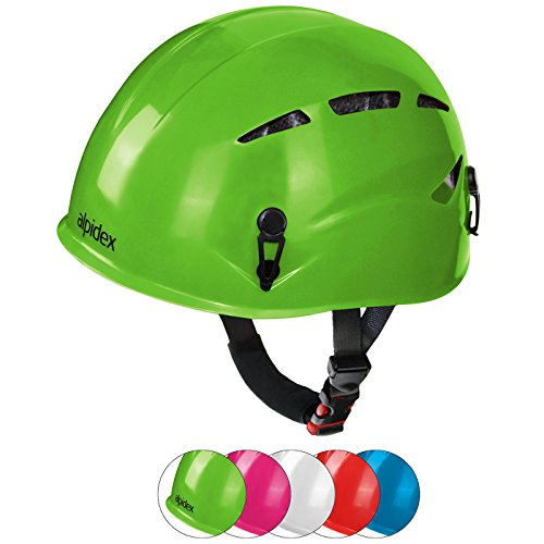 ALPIDEX Casco de Escalada Casco Argalí Kid Universal del Niño vías ferratas en Muchos Colores, Color:Apple-Green