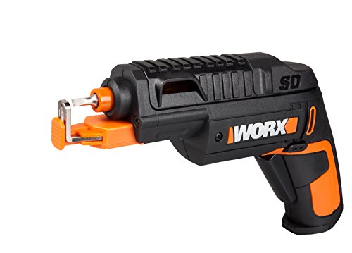 The WORX WX255.1 Slide Driver is a regular screwdriver with an additional screw holder that many will appreciate. It grips any size screw and lets you work with one hand, and the tool itself is such ergonomic. The supplied bit cartridge with 6 bits is very easy to use in terms of selecting a bit and replacing bits. Li-Ion battery technology is unbeatable and the 4V battery can last through a project without any hiccup. The featured LED lights are pretty useful too.