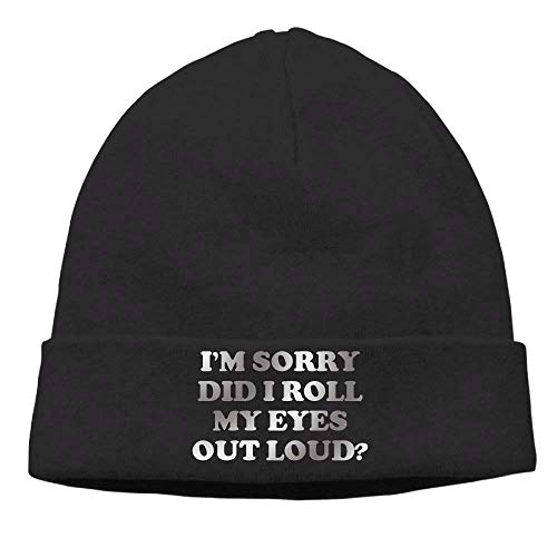 YOWAKi Fashion New cap Hat Unisex Beanies Caps Did I Roll My Eyes out Loud Skull Hats Soft Hedging...