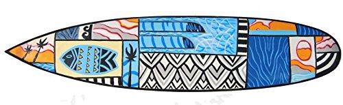 Cartel de madera en Surf Look 100cm Decoración con peces diseño de Mare Mar Tabla de Surf