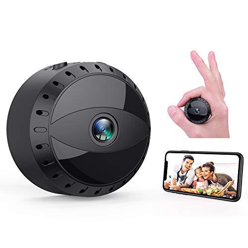 Mini Microcamere Spia, Tesecu Microcamera Spia 1080P HD Bottone Nascosta Telecamera WiFi IP Wireless...