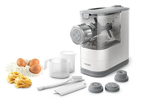 Philips HR2345/19 Viva Collection Pastamaker con Fronte in Metallo, 13.5 cm, Bianco