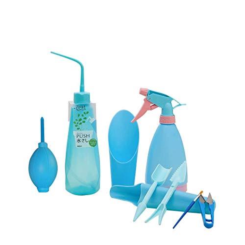 Babysbreath17 Multi-función de Mini jardín Mano Las Herramientas determinadas Plantas suculentas de riego Botellas en Miniatura Plantas de jardín Herramientas Azul #2
