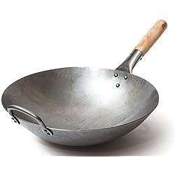2 - Wok tradizionale in acciaio al Carbonio.