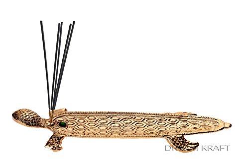 DreamKraft Metal Incense stick holder in Gold Color For Diwali and Festival Pooja (Gold)