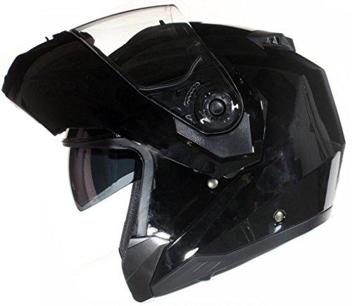 Qtech Casque Modulable Pare Soleil Interne - Moto Scooter - Noir Mat - XL (61-62cm)
