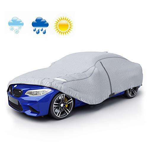 VETOMILE - Auto Abdeckplane Autoabdeckung Vollgarage Wasserdicht Sonnenschutz UV-Schutz Wetterfest PEVA Umweltfreundliche Materialien 432 * 165 * 120cm (M)