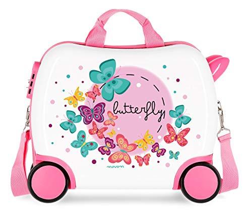 Movom Happy Time Valigia per bambini 41 centimeters, 25 L, Multicolore (Butterfly)