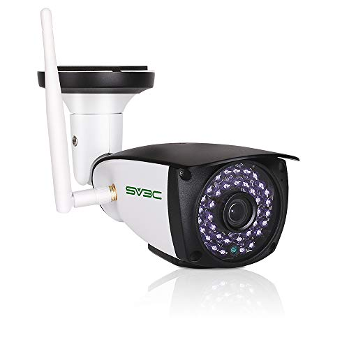 SV3C HD 5MP Videocamere di Sorveglianza Esterno Wi-Fi Telecamera IP con Rilevamento del Movimento, Audio Bidirezionale, Visione Notturna, IP66, Vista a Distanza Via Phone/Tablet/Windows