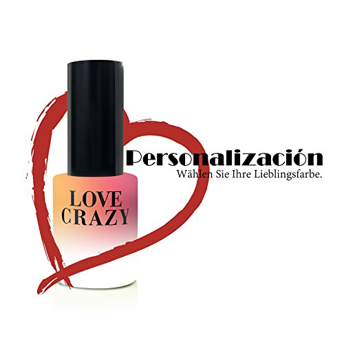LOVECRAZY - Kit de Esmaltes de Uñas en Gel Semipermanente, 6 Colores de Esmaltes y Top Coat Base Coat